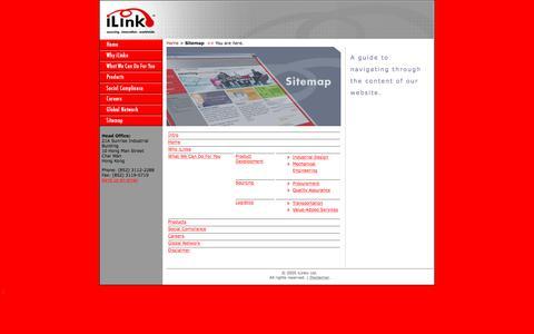 Screenshot of Site Map Page ilinko.com - ::: iLinko : Sitemap ::: - captured Sept. 20, 2018