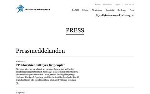 Screenshot of Press Page fxm.se - Press | fxm - captured Jan. 23, 2016