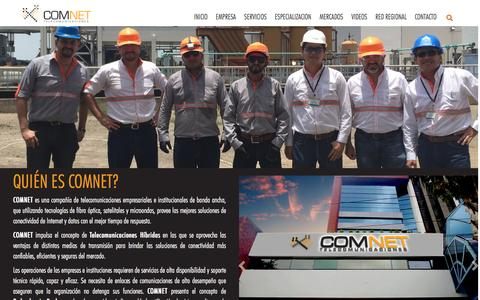 Screenshot of About Page comnetsa.com - About us | - captured May 12, 2017