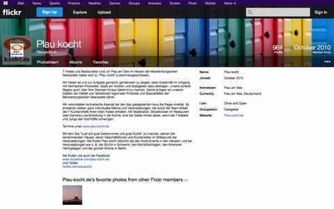 Screenshot of Flickr Page flickr.com - Flickr: Plau-kocht.de - captured Oct. 23, 2014