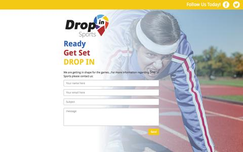 Screenshot of Home Page dropinsports.ca - Dropin | Ready Get Set DROP IN - captured Sept. 12, 2015
