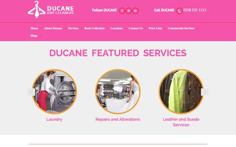 Screenshot of Home Page ducanerichmond.co.uk - Dry Cleaners, Dry Cleaning Specialist Richmond - Surrey,London - captured Oct. 5, 2014