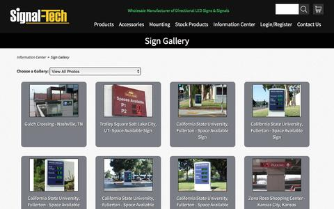 Sign Gallery |  Information Center | Signal-Tech