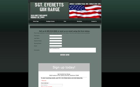 Screenshot of Contact Page sgteveretts.com - Contact Us - captured Oct. 9, 2014