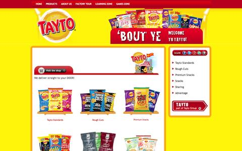 Screenshot of Products Page tayto.com - Tayto Product Range - captured Oct. 7, 2014