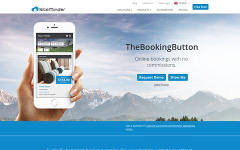 Screenshot of siteminder.com - Hotel Reservation & Online Booking System TheBookingButton - captured Jan. 25, 2016