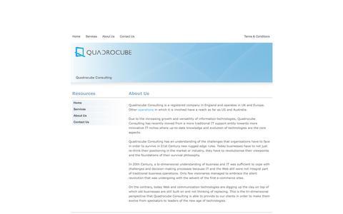 Screenshot of About Page quadrocube.com - Quadrocube.com -  Online Marketing and Innovative IT - captured Jan. 28, 2016