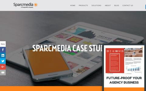 Screenshot of Case Studies Page sparcmedia.com - Sparcmedia | Programmatic Advertising Case Studies - captured May 29, 2017