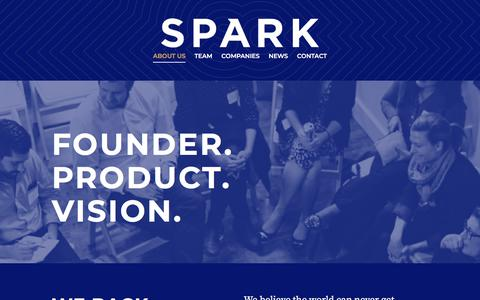 Screenshot of About Page sparkcapital.com - Spark Capital - About - captured Sept. 26, 2019