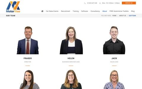Screenshot of Team Page motorvise.com - The MotorVise Team - Automotive Industry Experts - captured Aug. 8, 2019