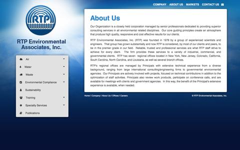 Screenshot of About Page rtpenv.com - RTP Environmental Associates - captured Dec. 6, 2016
