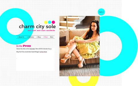 Screenshot of Press Page charmcitysole.com - Charm City Sole Footwear Womens Leather Wedges, Women Platform Heels, | > Press - captured Nov. 4, 2016