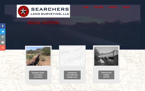 Screenshot of Services Page searchersls.com - SERVICES - captured Dec. 1, 2016