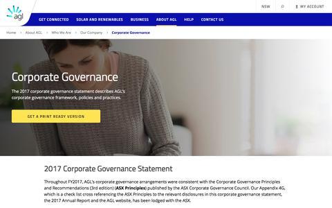 Corporate Governance | AGL