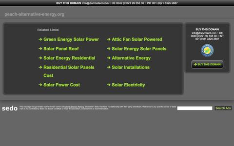 Screenshot of Home Page peach-alternative-energy.org - peach-alternative-energy.org-This website is for sale!-peach-alternative-energy Resources and Information. - captured May 24, 2017