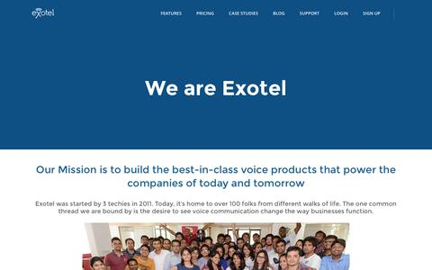 Screenshot of About Page exotel.in - Exotel - About the team - captured July 24, 2016