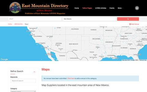 Screenshot of Maps & Directions Page eastmountaindirectory.com - Maps East Mountain Business Directory - captured May 14, 2017