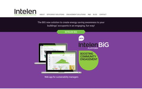 Screenshot of Home Page intelen.com - Data Analytics for Engagement Solutions | Intelen, Inc - captured Sept. 12, 2014
