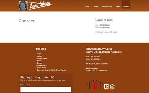 Screenshot of Contact Page kerrygibson.com - Kerry Gibson Real Estate :: Contact - captured Nov. 27, 2016