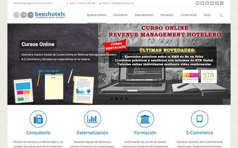 Screenshot of Home Page beezhotels.com - Beezhotels   Revenue Management Hotelero & E-Commerce - captured Nov. 6, 2018