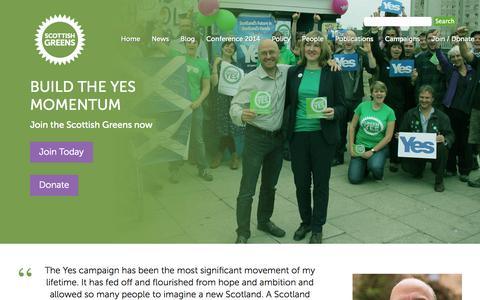 Screenshot of Signup Page scottishgreens.org.uk - Join / Donate - captured Oct. 27, 2014