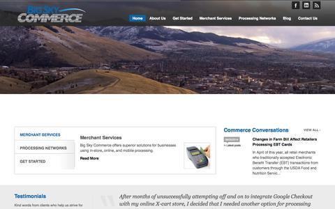 Screenshot of Home Page bigskycommerce.com - Big Sky Commerce - captured Sept. 30, 2014