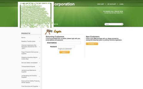 Screenshot of Login Page usecoproducts.com - Login - captured Dec. 17, 2018