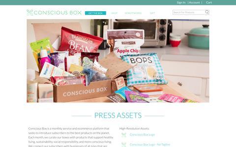 Screenshot of Press Page consciousbox.com - Press & Media  | Conscious Box - captured Sept. 12, 2014