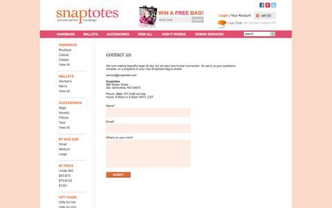 Screenshot of Contact Page snaptotes.com - Contact Us - captured Oct. 26, 2014