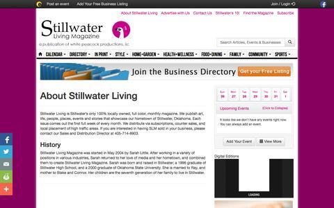 Screenshot of About Page stillwaterliving.com - About Stillwater Living - captured Oct. 26, 2014