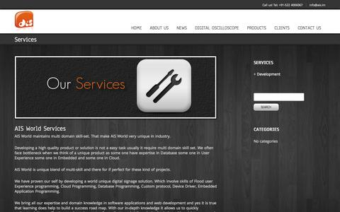 Screenshot of Services Page ais.im - Services - captured Oct. 4, 2014