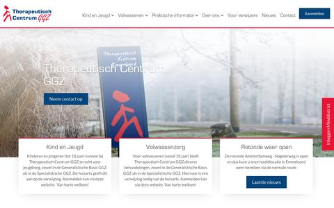 Screenshot of Home Page therapeutisch-centrum.nl - Home   Therapeutisch Centrum GGZ - captured Oct. 18, 2018