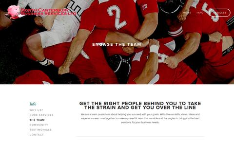 Screenshot of Team Page ncbiz.co.nz - The Team — North Canterbury Business Services Ltd - captured Oct. 7, 2014