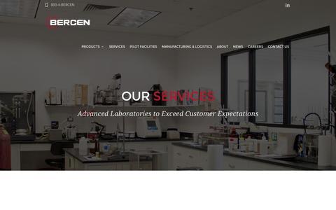 Screenshot of Services Page bercen.com - Product Development - Analytical Services - Bercen - captured Nov. 22, 2016