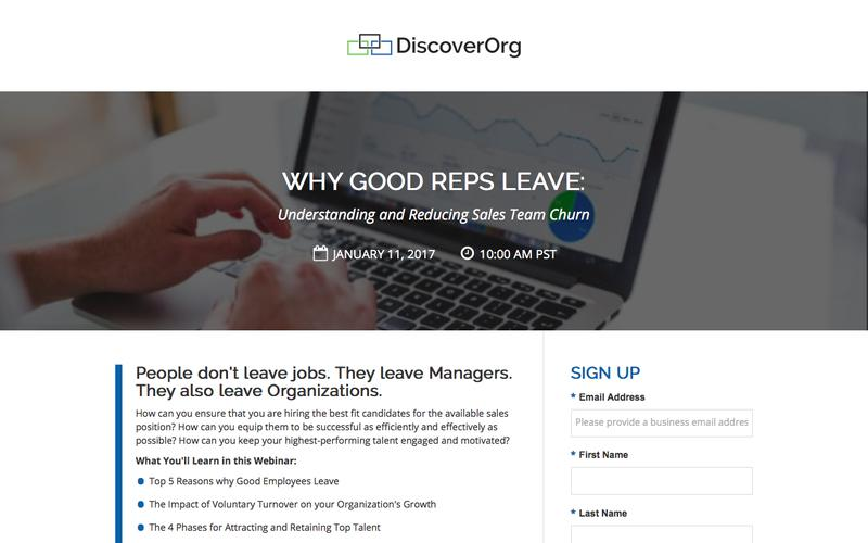 Why Good Reps Leave | DiscoverOrg Webinar