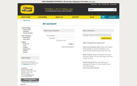 Screenshot of Login Page otterbox.com - Sites-otterbox_us-Site - captured Sept. 18, 2014
