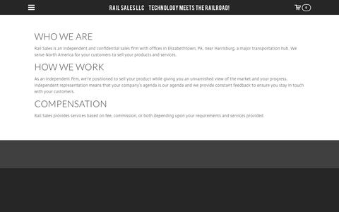 Screenshot of About Page railsalesllc.com - About Us - Rail Sales LLC   Technology Meets the Railroad! - captured Sept. 20, 2018