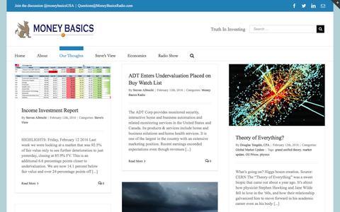 Screenshot of Blog moneybasicsradio.com - Blog - Money Basics - captured Feb. 14, 2016