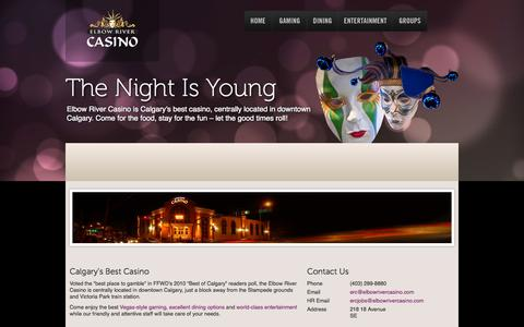 Screenshot of About Page Contact Page elbowrivercasino.com - Elbow River Casino  | - captured Oct. 22, 2014