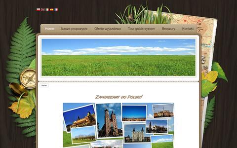 Screenshot of Home Page poloniaviaggi.pl - WYCIECZKI I PIELGRZYMKI DO POLSKI - Zapraszamy do Polski! - captured March 16, 2016