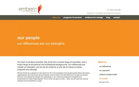 Screenshot of Team Page emberin.com - Emberin | Our People - captured Sept. 29, 2014