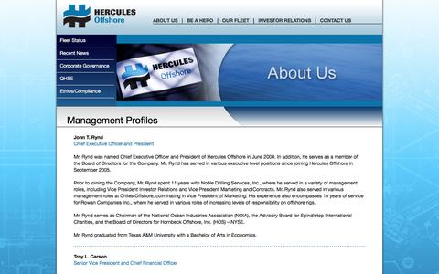 Screenshot of Team Page herculesoffshore.com - Hercules Offshore, Inc. - captured July 13, 2016