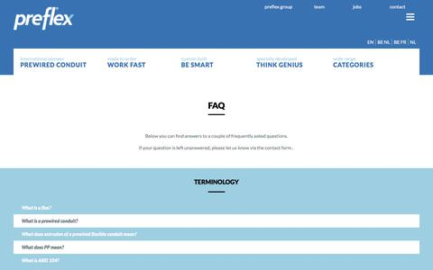 Screenshot of FAQ Page preflex.com - FAQ - Preflex - captured July 9, 2017