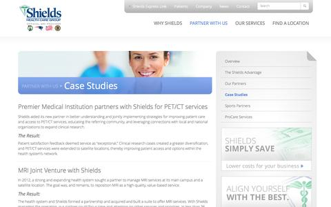 Screenshot of Case Studies Page shields.com - Case Studies   Shields Health Care Group - captured Feb. 19, 2016