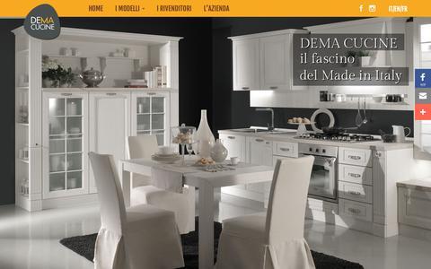 Screenshot of Home Page desi-dema.it - Produzione Cucine Classiche e Moderne - DEMA Cucine - captured Nov. 13, 2018
