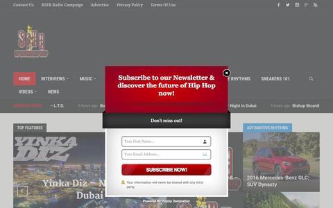 Screenshot of Home Page spitfirehiphop.com - SpitFireHipHop.com   Know Who's Next... First - captured Nov. 17, 2015