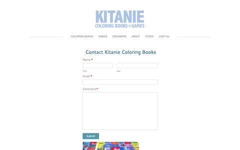 Screenshot of Contact Page kitanie.com - Contact - Kitanie Coloring Books - captured Oct. 6, 2014