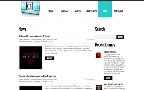 Screenshot of Press Page fogstudios.com - FOG Studios – The Leading Agency For Interactive Rights Since 1979   - captured Sept. 30, 2014