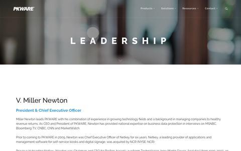 Screenshot of Team Page pkware.com - Leadership | PKWARE - captured July 14, 2018