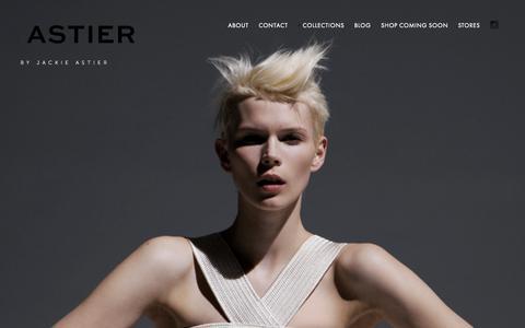 Screenshot of Home Page astierny.com - ASTIER NY - captured Aug. 2, 2015